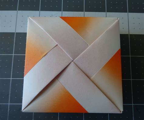 Folded Paper Box With Lid - origami box with lid all