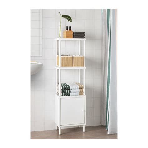 Dynan Cabinet With Door White 40x27x56 Cm Ikea Ikea Bathroom Storage Solutions