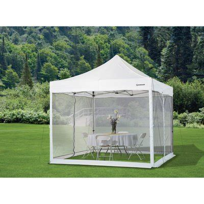 Outdoor Mesh Curtains Strongway Pop Up Outdoor Canopy Tent Mesh Curtain 10ft X 10ft Canopy Enclosure Kits