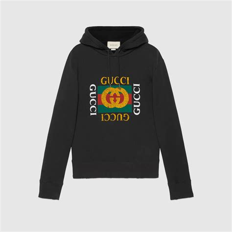 Hoddie Gucci cotton sweatshirt with gucci logo gucci new sweatshirts hoodies 454585x5j571015