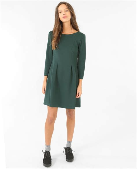 Robe Patineuse Avec Manches 3 4 - robe patineuse manches 3 4 vert 781225508a05 pimkie