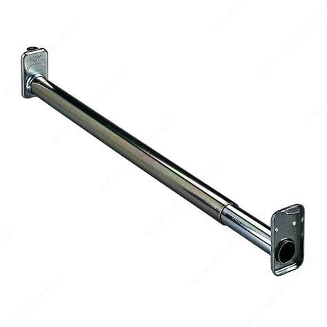 Adjustable Hanging Closet Rod by Adjustable Hanging Rod With Fixed Ends Zinc Richelieu