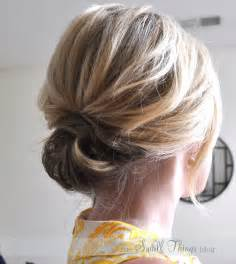 hair updo the chic updo the small things blog