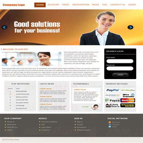 templates for mlm business download free software mlm company website template