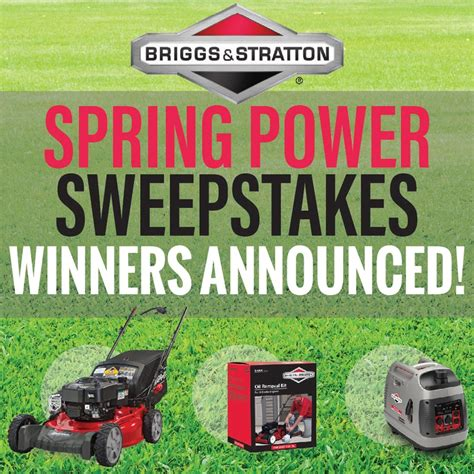 Lawn Mower Sweepstakes 2017 - our winners of the briggs stratton spring power sweepstakes 2017 on the house
