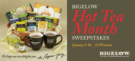 All You Monthly Sweepstakes - last chance to enter bigelow tea s hot tea month sweepstakes bigelow tea blog