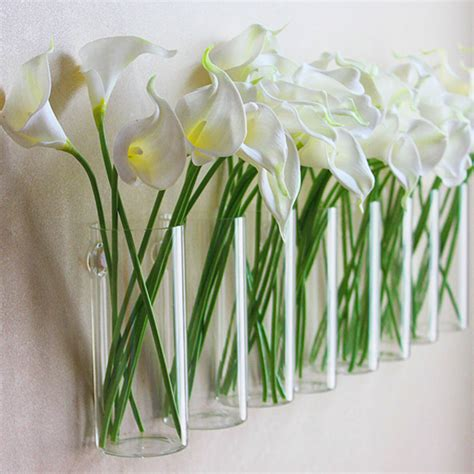 flower vase decoration home 1pc glass vases fashion home decorative wall decoration flower vases with nail flower pots
