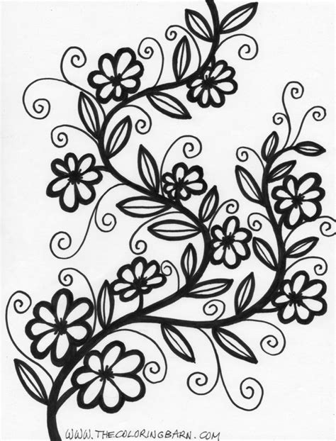 coloring pages abstract flower coloring pages