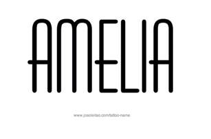 amelia name tattoo designs