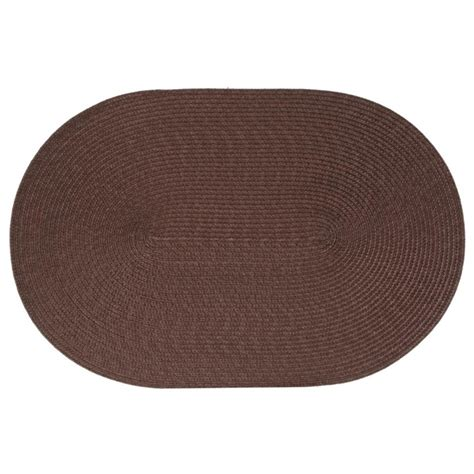 set de table ovale choco