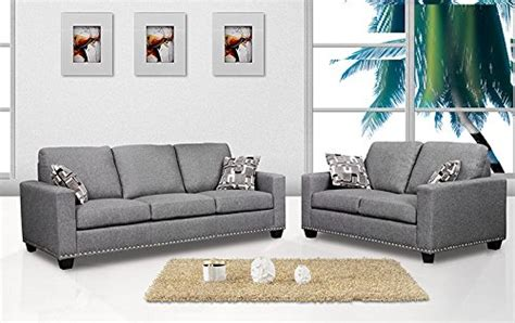 grey color sofa 2 piece sofa set sofa loveseat dark grey color fabric