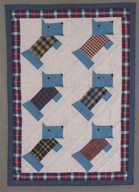 Scottie Quilt Pattern by Version Pieced Scottie Doll Quilt