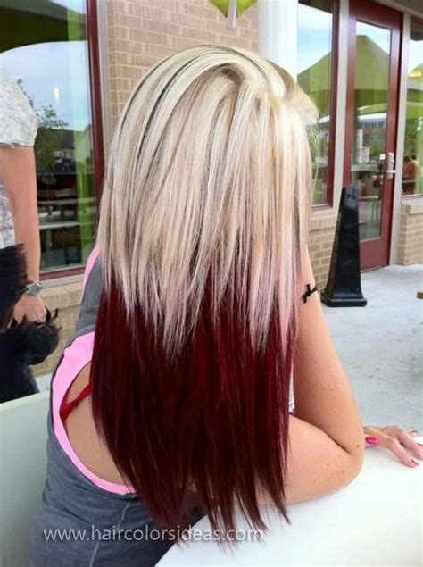 color underneath hairstyles 12 blonde hair with red highlights hair color ideas