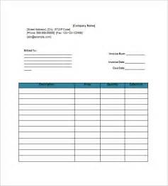 invoice template for docs invoice template 20 free word excel pdf format