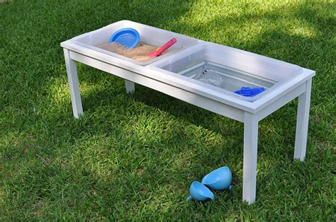 how to build a sand table how to build your own water sand sensory table for play