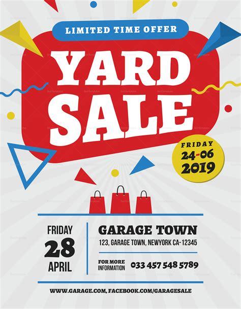 Yard Sale Flyer Images yard sale premium flyer design template in word psd