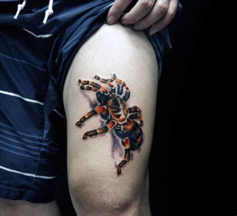 3d tattoo thigh 70 tarantula tattoo designs for men spider ink ideas