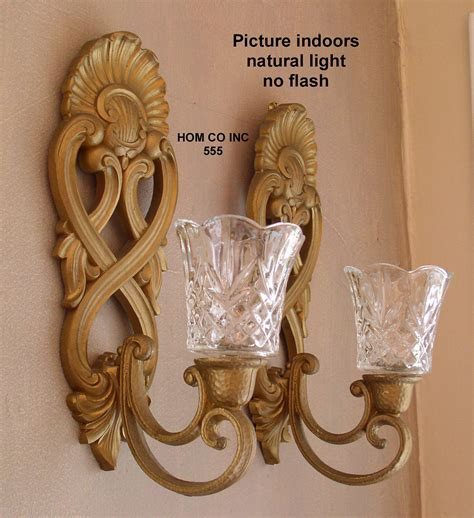 decor tips candle sconces with glass votive holders and