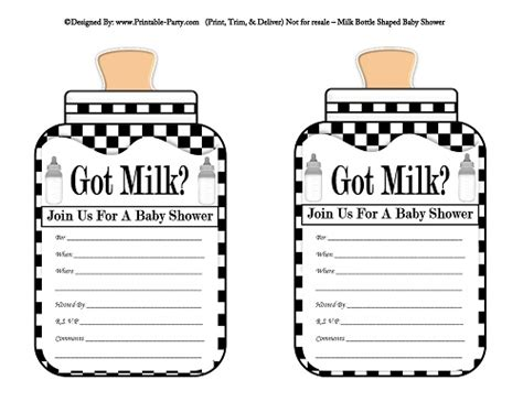 Got Milk Template free baby shower printables