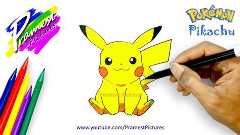 pikachu  menggambar  mewarnai gambar pokemon