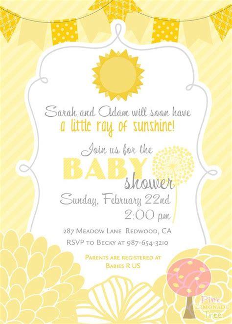 sunshine baby shower invitation  listing    digital invitation  store printing