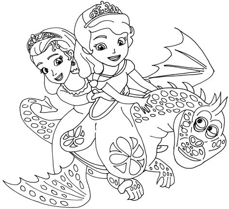 Top 10 Disney Princess Sofia The First The Curse Of Princess Sofia Coloring Pics