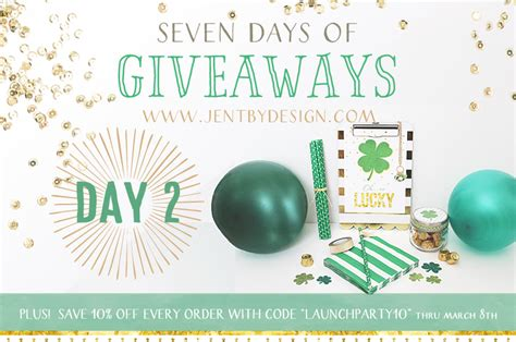Giveaway Design - jen t by design launch party giveaway day 2 jen t by design
