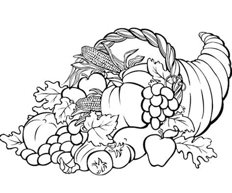 cornucopia basket coloring page thanksgiving coloring pages cornucopia festival