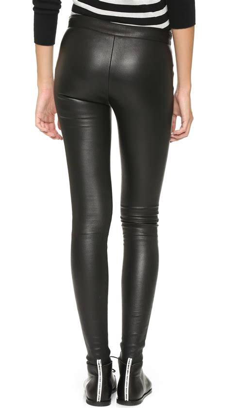 leather pants mackage stretch leather pants in black lyst