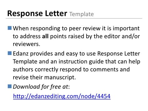 Response Letter To Reviewers language editing for scientists