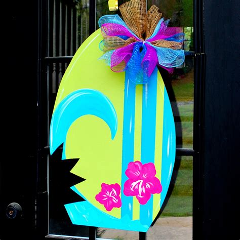 summer decorations summer door hanger surfboard door decoration summer wreath
