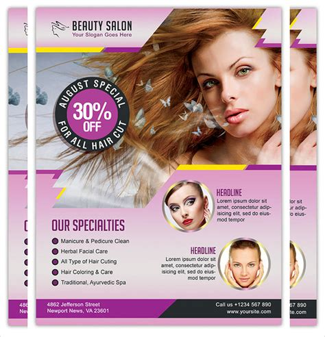 hair salon flyer templates 12 hair salon flyer templates psd free eps format