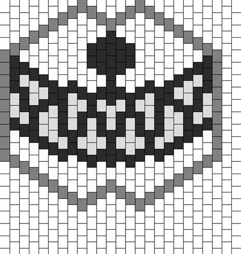 black and white kandi mask pattern kandi patterns for kandi cuffs animals pony bead patterns
