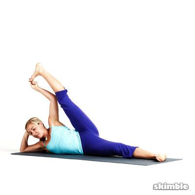 side reclining leg lift post workout unwind free workout workout trainer by