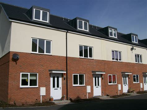 portobello way new build social housing 4 a row of new