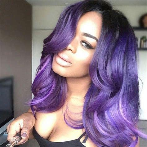 weave hairstyles with purple tips mua dasena1876 movie night qu instagram photo