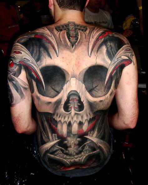 tattoo nation full tribal skull back tattoo goth and industrial tattoo