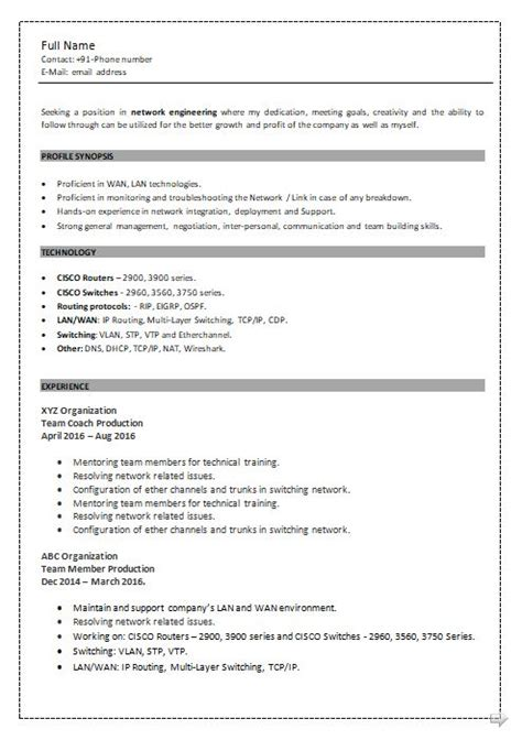 sle resume for network engineer fresher ccna resume format 28 images ccna resume format ccna