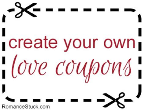 create your own custom love coupons for free with our