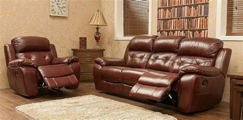 2 Seater Reclining Leather Sofa by Bentley Reclining 3 2 Seater Leather Sofa Suite Available
