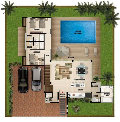 piscina casa imagui plano de casa con piscina imagui