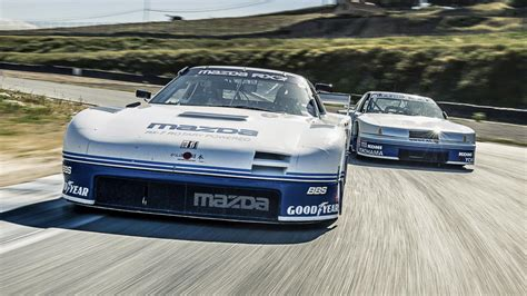 mazda racers driving the rotary engined mazda classic racers top gear