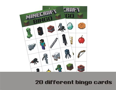 printable minecraft quiz 8 best images of free printable minecraft bingo cards