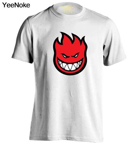 Skateboarding Tshirt Custom Tshirt Termurah spitfire wheels skateboard flaming logo mens womens printing t shirt custom t
