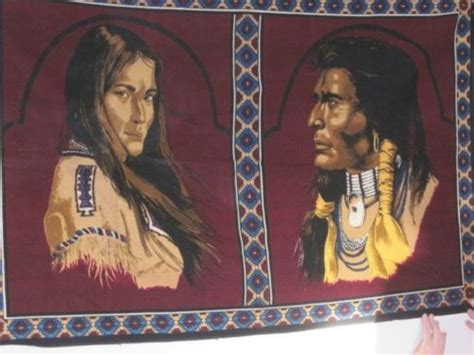 Decorative Tapestry Vintage Tapestry Wall Hanging Native American Man And
