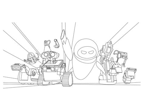 Wall E Coloring Pages by Free Wall E Coloring Pages