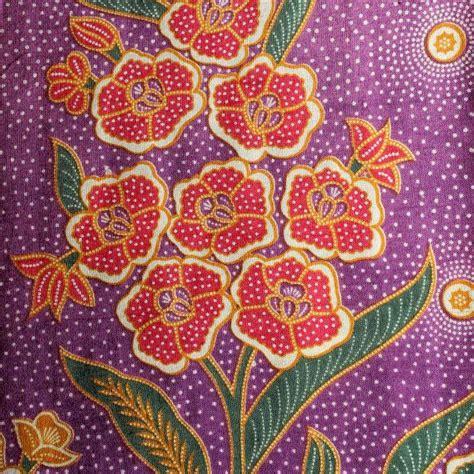 design batik cotton terkini bright floral traditional indonesian vintage batik by