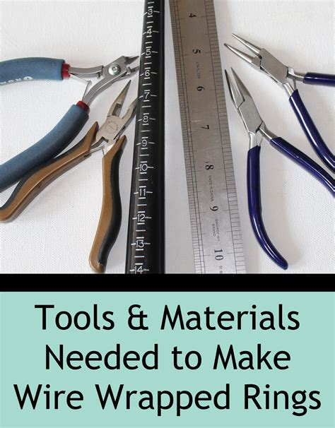 supplies needed to make jewelry tools and materials needed to make wire wrapped rings