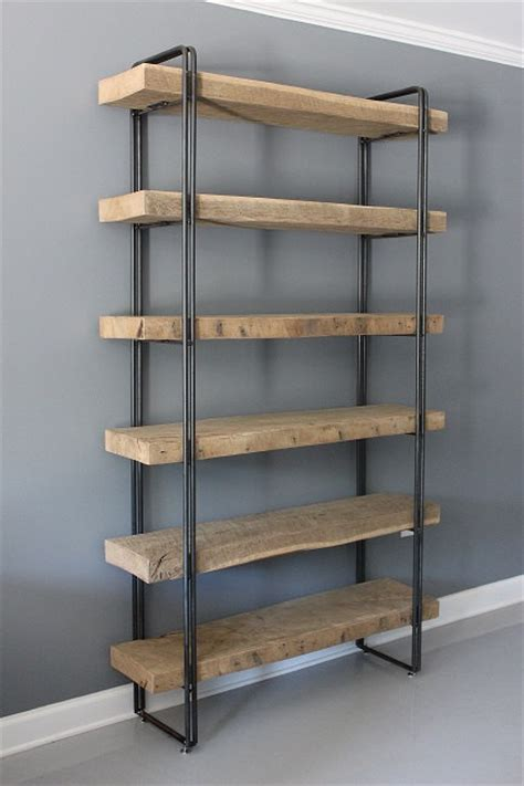 rustic industrial shelving reclaimed wood bookcase shelving unit storage industrial modern