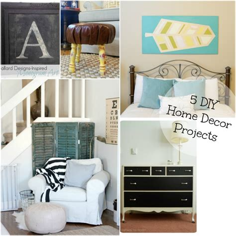 diy crafts for home decor pinterest 5 diy home decor projects and the project stash